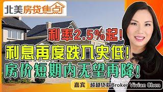 利息再度跌入史低!2.5%起!房价短期内无望再降!《北美房贷焦点》第06期Dec 09, 2020 - YouTube
