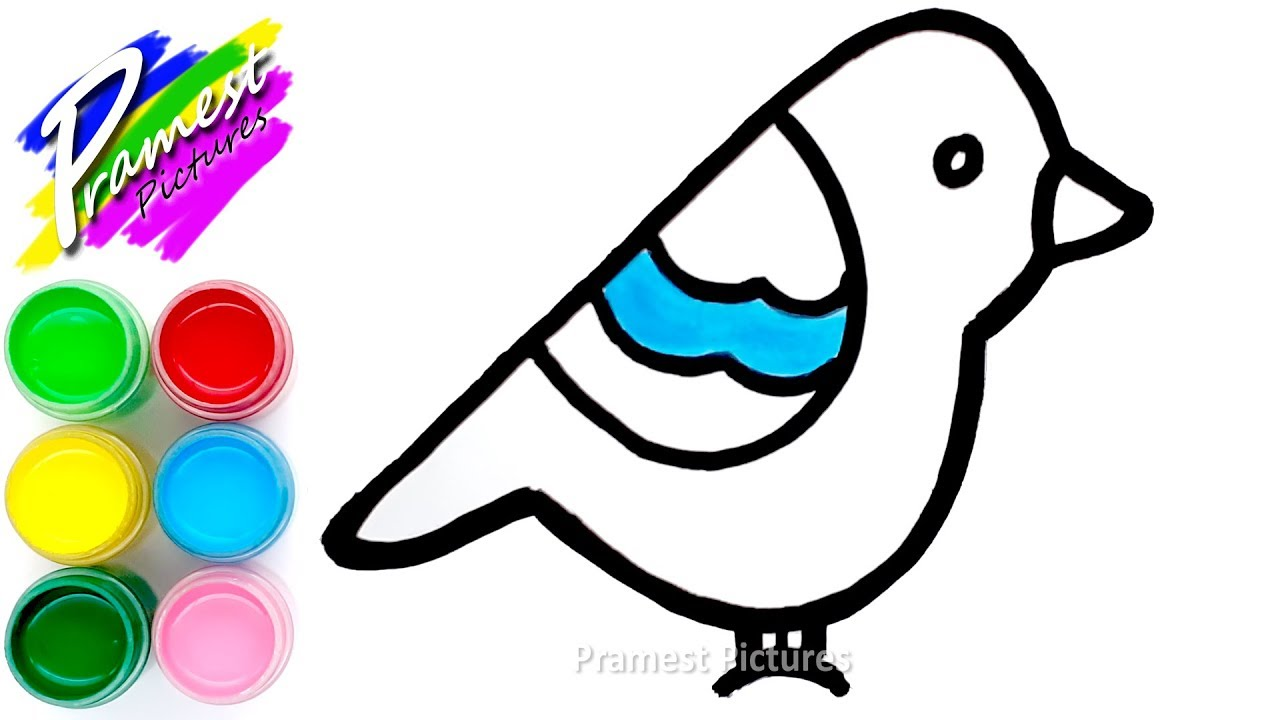 How To Draw Toy Bird Coloring And Drawing For Kids