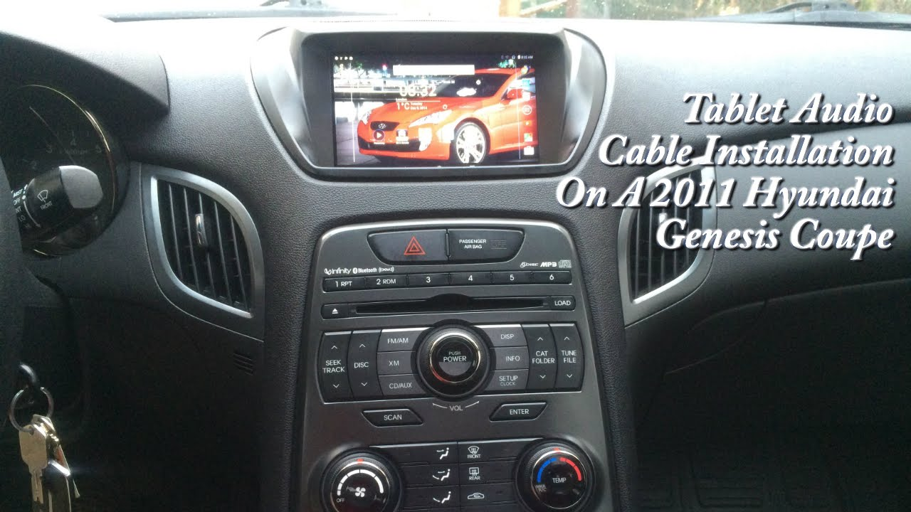 2011 hyundai genesis coupe tablet audio installation youtube. Black Bedroom Furniture Sets. Home Design Ideas