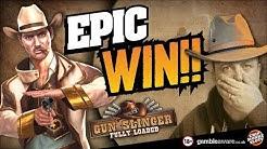 "Online Slots -MASSIVE WIN !!! Gunslinger Reloaded ""Its Broken"""