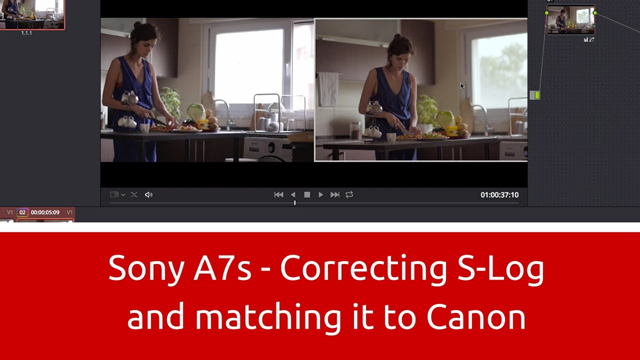 Sony a7S - Correcting S-Log and Matching it to Canon