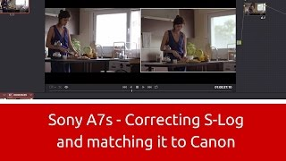 sony a7s correcting s log and matching it to canon