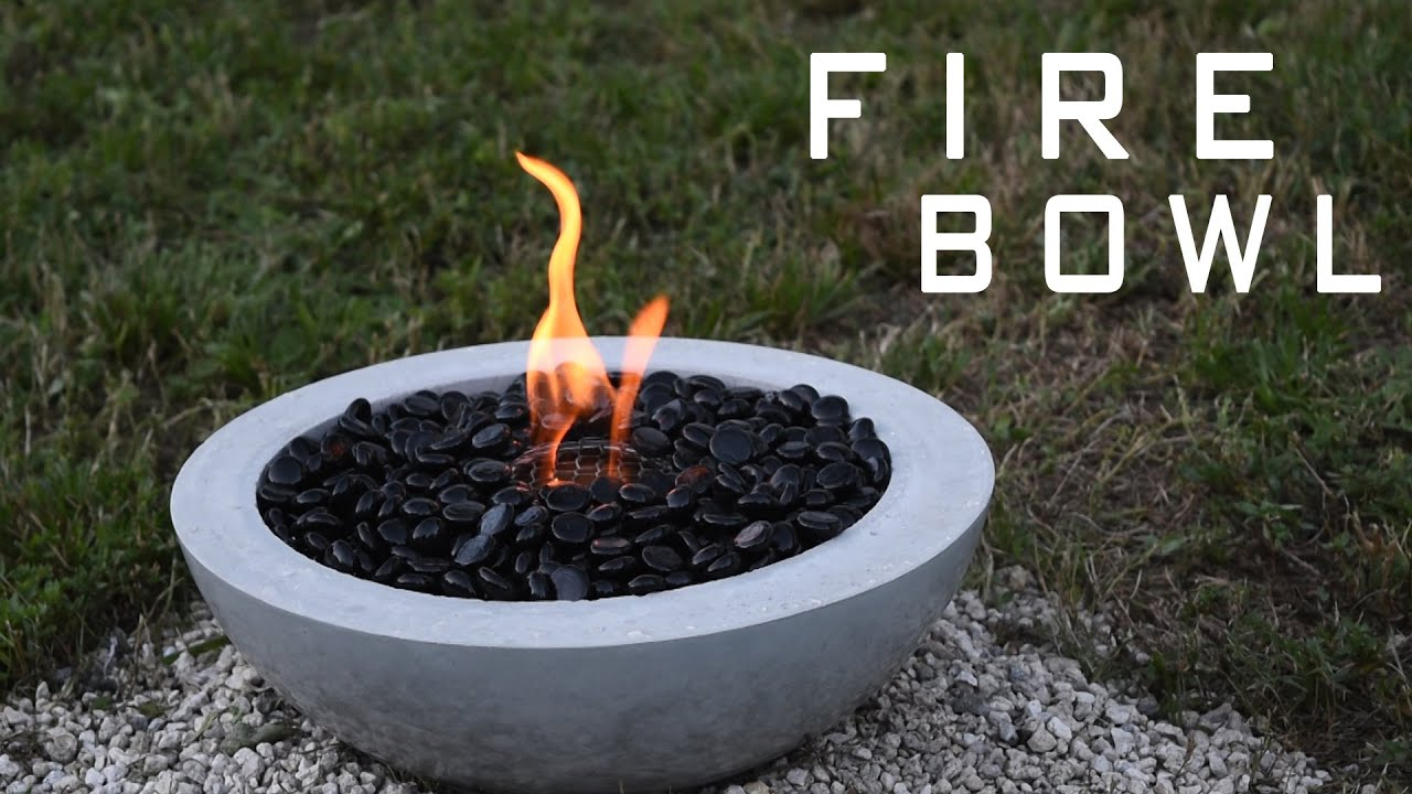 How To Make a Concrete Fire Bowl | Gel Fuel - YouTube