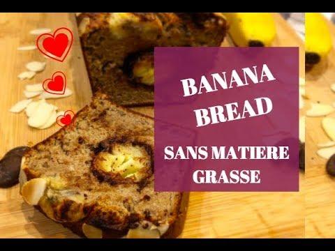 BANANA BREAD SANS MATIERE GRASSE - HEALTY