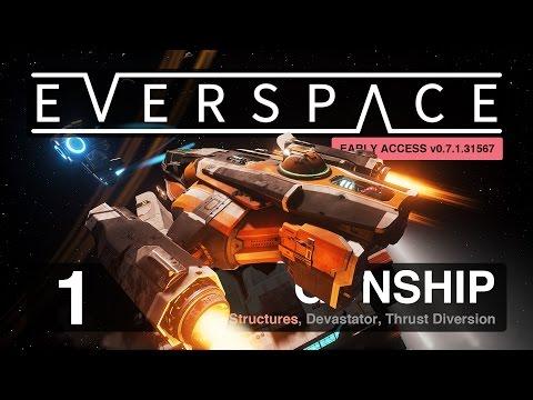 EVERSPACE (Early Access): New Run Gunship GO |