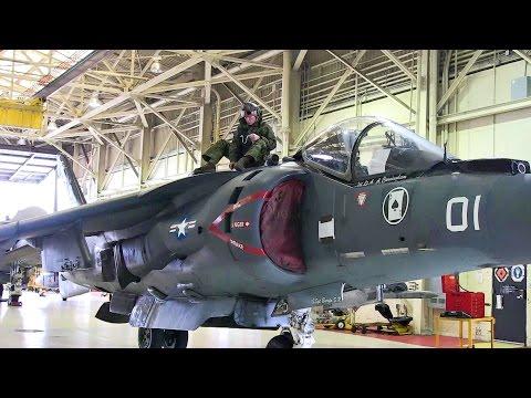 Maintenance on AV-8B Harrier Aircraft