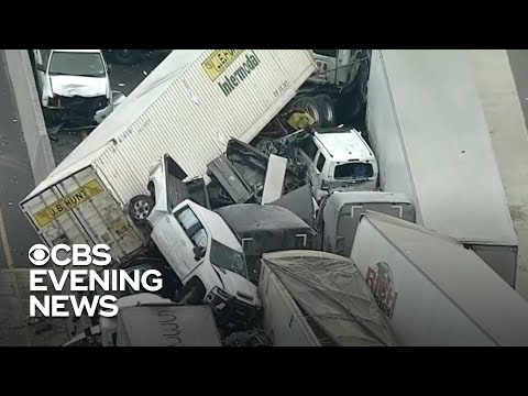 At least 6 killed in 100-vehicle pileup on icy Texas highway