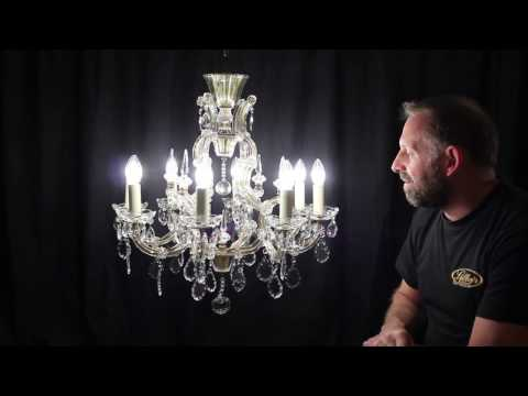 Nicole - Vintage French mid 20th Century Period Crystal Chandelier