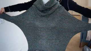 Cowl Neck Sweater Tutorial