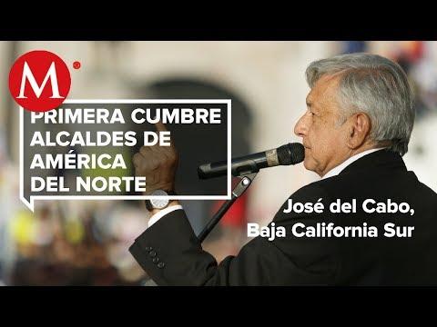 AMLO en la primera Cumbre de Alcaldes de América del Norte