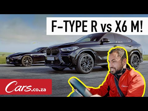 Drag race! BMW X6 M Competition vs 2020 Jaguar F-Type R AWD