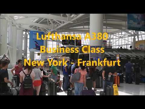 Lufthansa A380 Business Class ✈ New York - Frankfurt