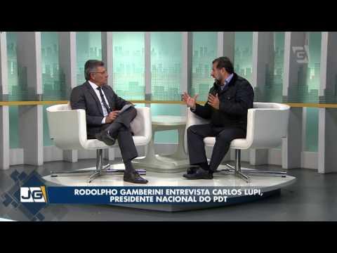 Rodolpho Gamberini entrevista Carlos Lupi, presidente nacional do PDT