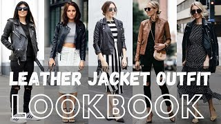 Fall Trendy Leather Jacket Outfit Lookbook 2019 | Fall Fashion 2019