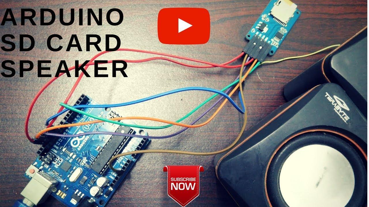 Audio player using arduino sd card interface youtube