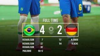 Brazil vs Germany 4 2 all goals extended highlight Olympics 2020 football TokyoOlympic2020