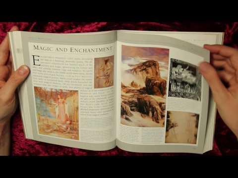 Flipping through a book ASMR ♔ Celtic Mythology ♔ soft spoken page turning