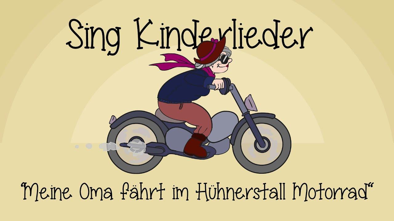 Oma Fährt Im Hühnerstall Motorrad Text