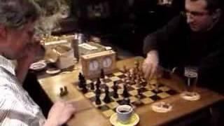 Lobzhanidze playing Blitz in Café Atlantis
