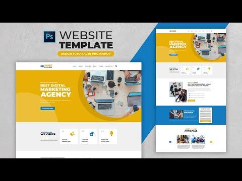 How To Design A Business Website Template | Adobe Photoshop Tutorial | Speed Art | Grafix Mentor