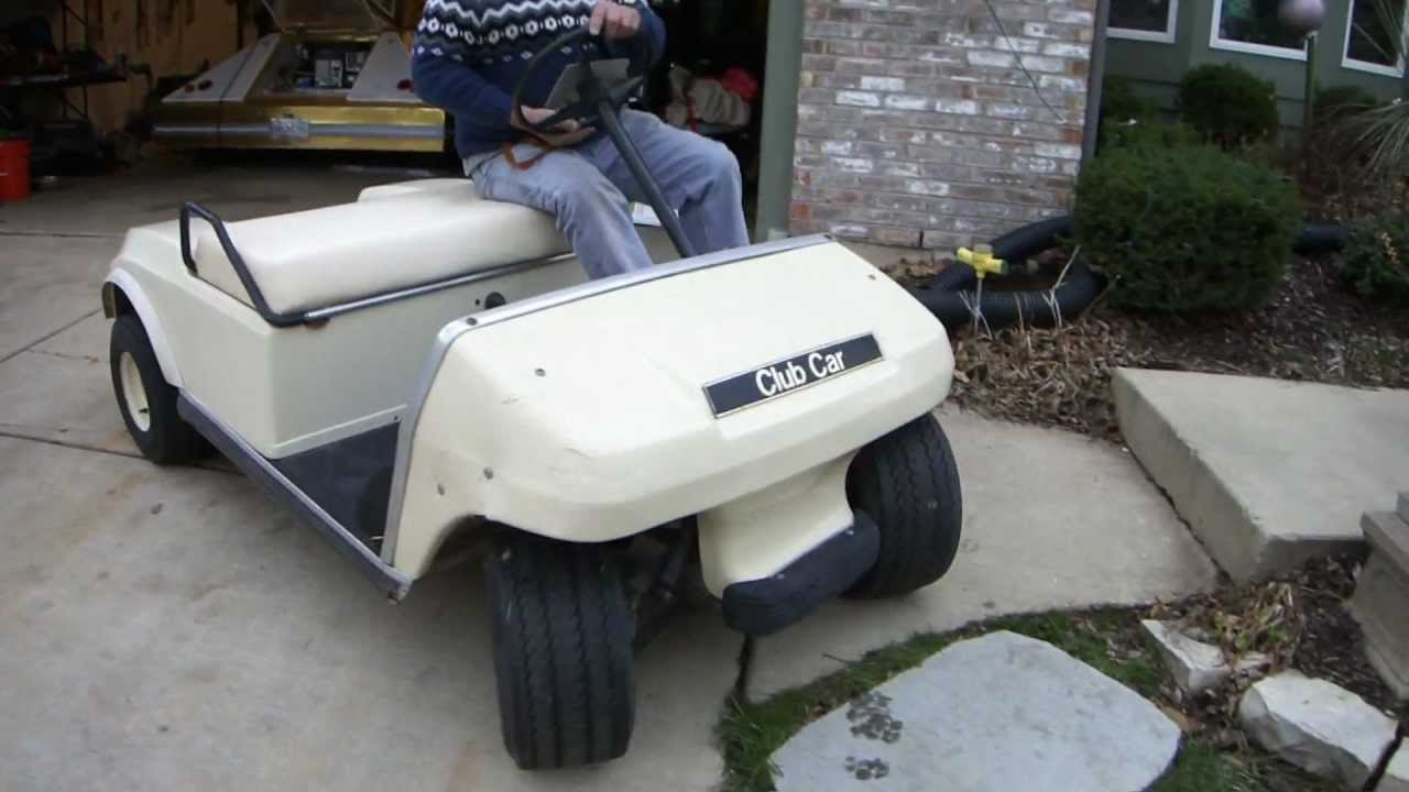 A Used Club Car Electric Golf Cart That Was For Sale On eBay