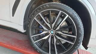 NC김태곤선수의 애마 BMW X5휠복원후 블래유광휠색상…