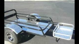 Cargo trailer motorcycles can tow open wagon style