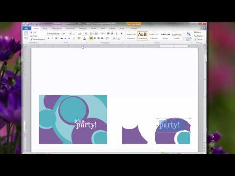 Creating Custom Backs On Greeting Cards With Ms Powerpoint and Paint – Creating an Invitation in Word