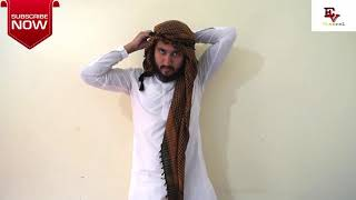 #FullVideo How to tie the Arabic scarf, Shemag or Ghotra, The Omar Al_ Gala Style Full video