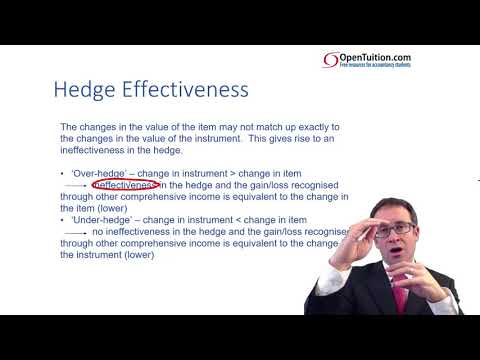 CIMA F3 Hedging - Criteria and  effectiveness