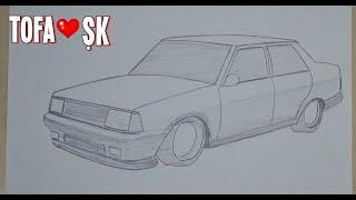 Basit ve Hızlı Tofaş Şahin Çizimi-Tofaş Şahin Nasıl Çizilir-How to Draw a Tofaş Şahin-Bölüm 83