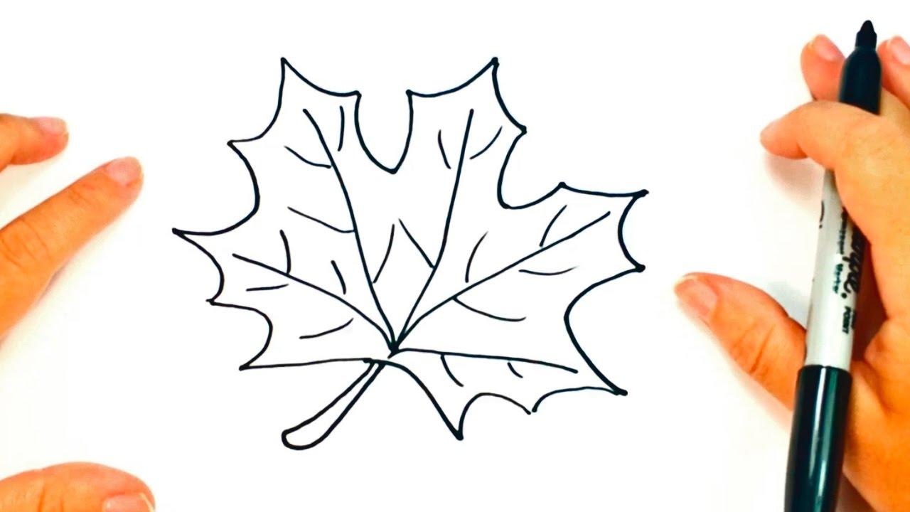 Cómo Dibujar Una Hoja De Otoño Paso A Paso Dibujo Fácil De Hoja De Otoño