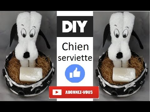tuto diy chien en serviette youtube. Black Bedroom Furniture Sets. Home Design Ideas