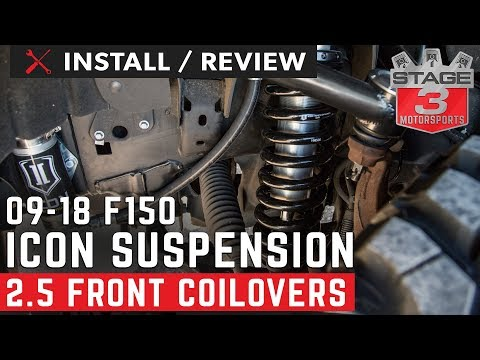 2009-2018 F150 ICON 2.5 VS Remote Reservoir Front Coilovers Install and Review