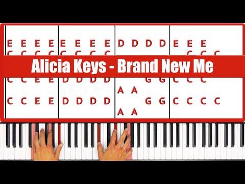 ♫ ORIGINAL - How To Play Brand New Me Alicia Keys Piano Tutorial Lesson - PGN Piano