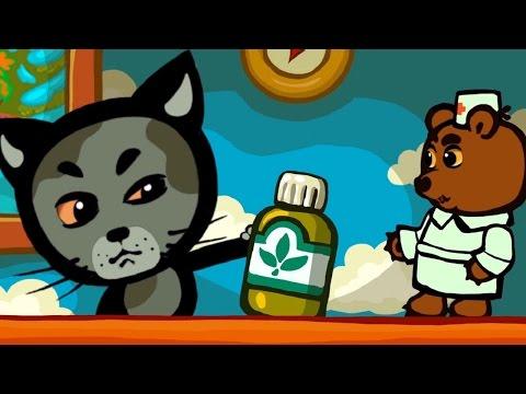 Развивающие и обучающие мультики для детей - Не бойся лекарств: Три котенка - теремок тв: песенки