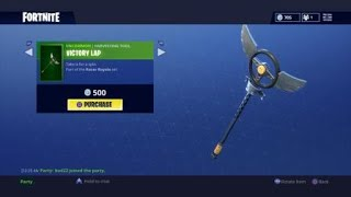 NEW FORTNITE VICTORY LAP HARVESTING TOOL AND FULL RACER ROYALE SET - BATTLE HOUND SKIN IS ALSO BACK