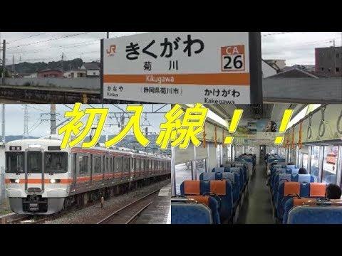 激レア!313系6+2両編成が菊川にやってきた!!