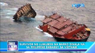 Sole survivor of cargo ship already in Philippine embassy
