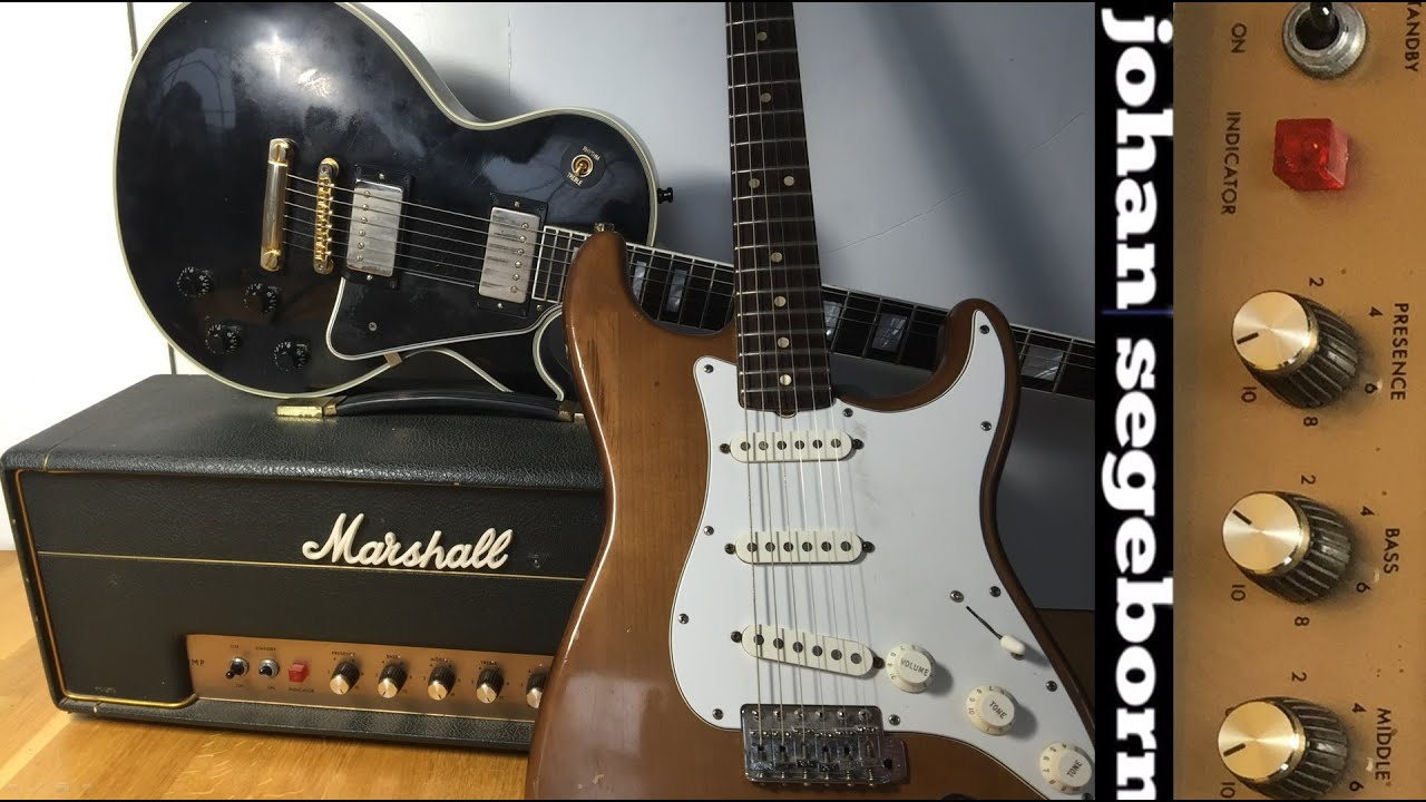les paul vs stratocaster on 1968 marshall plexi youtube. Black Bedroom Furniture Sets. Home Design Ideas
