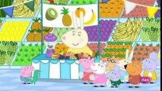 Peppa pig en español- día de la fruta