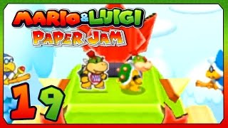 Mario & Luigi Paper Jam Bros Part 19 Bowser Jr. PaperCraft Boss Battle Walkthough Gameplay w/ Voltsy