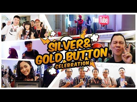 Silver & Gold Play Button Cellebration