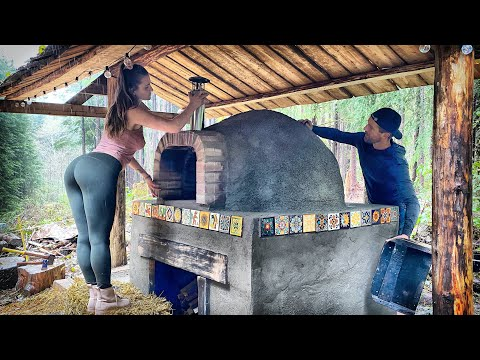TIMELAPSE - DIY Wood Fired BRICK & COB PIZZA OVEN - Start to Finish