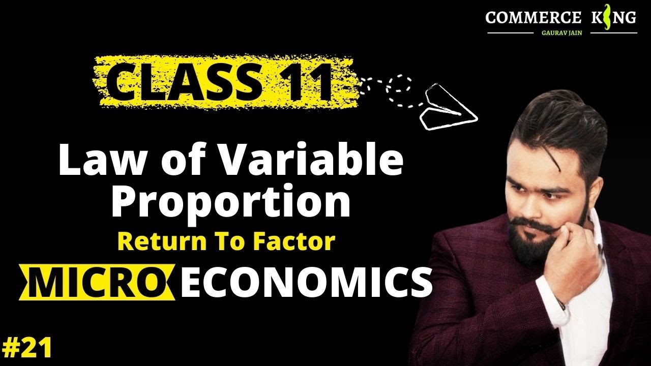 #21, law of variable proportion | return to a factor | microeconomics |  Class 11 | Class 12