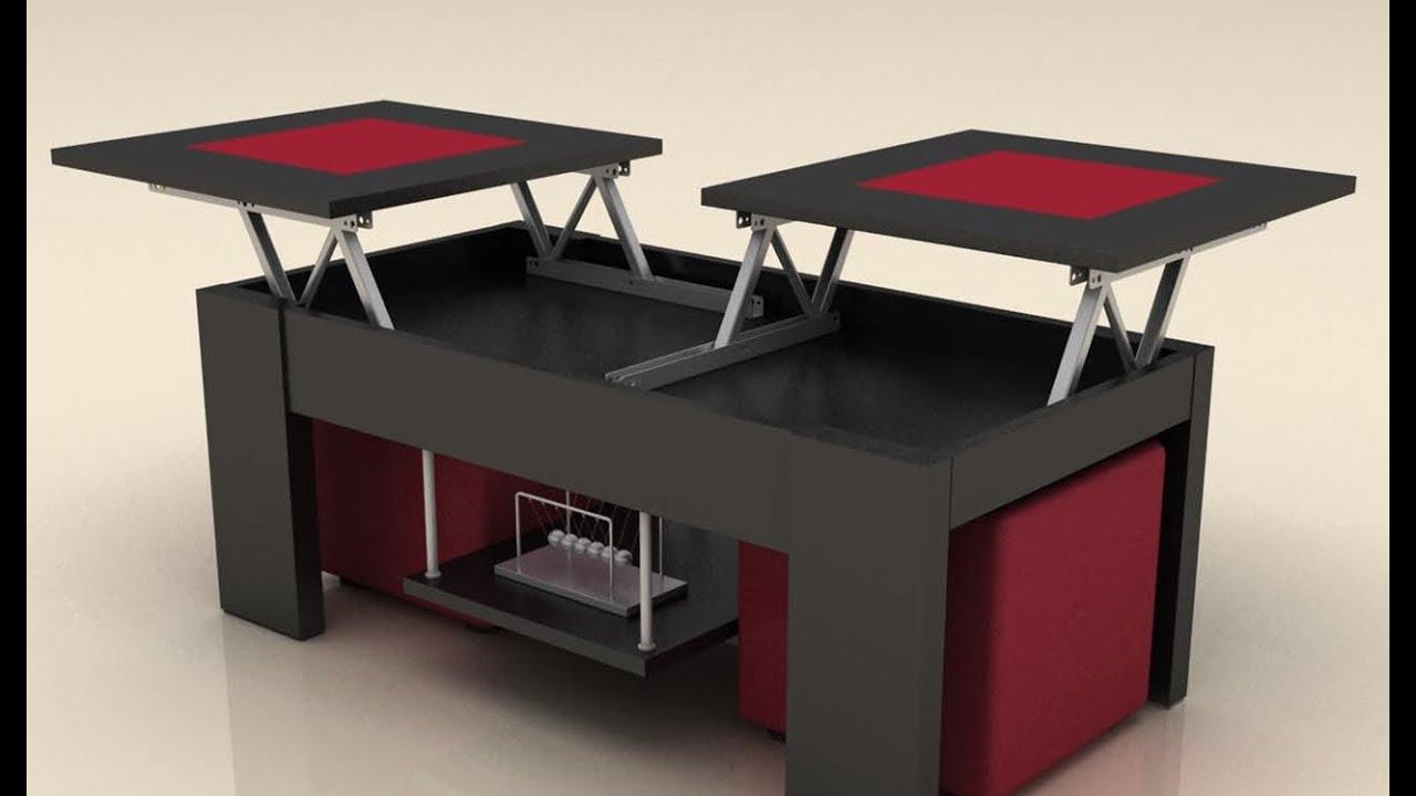 mesas de centro elevables con cristal de catalogo alta