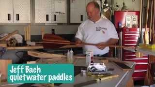 Bent Shaft Wood Canoe Paddle Kits From Quietwater Paddles
