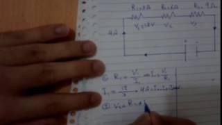 فيزياء الثالث متوسط ـ ربط المقاومات على التوالي