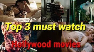 Top 3 must watch Hollywood movies//romance//thriller//crime-horror