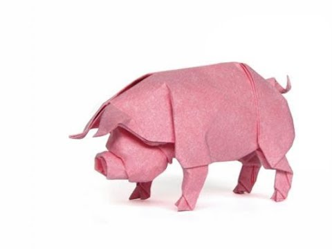 Origami Pig By Ronald Koh Youtube